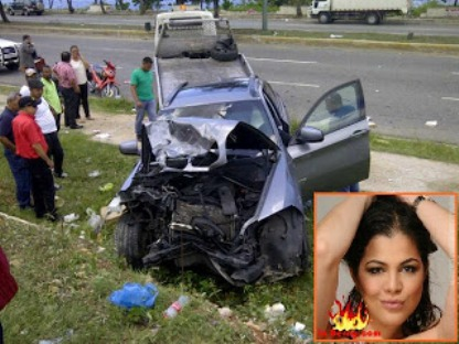 Comunicadora Tamara Martnez sufre accidente de trnsito